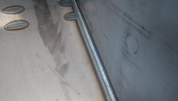 carpenteria lungo giunto saldato a tenuta stagna
