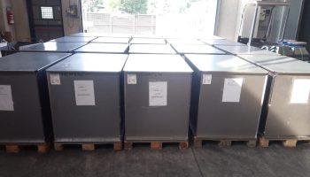 materiali pronti per la spedizione in Etiopia